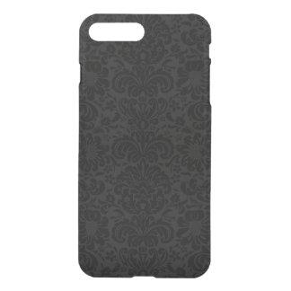 Elegant Black & Gray Damasks Pattern iPhone 8 Plus/7 Plus Case