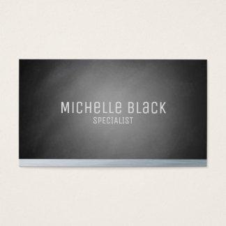 Elegant Black Ombre Chalkboard Business Cards