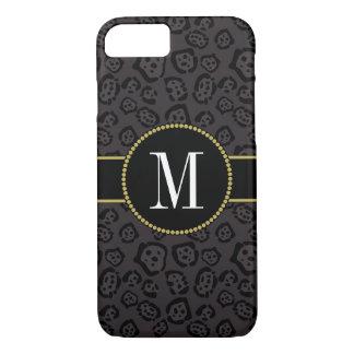Elegant Black Panther Jaguar Stylish Gold Monogram iPhone 8/7 Case