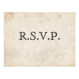 Elegant Black Parchment RSVP Card