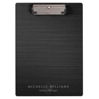 Elegant black perforated metal personalized clipboard