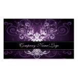 Elegant Black Purple & White Tones Vintage Frame 2 Pack Of Standard Business Cards