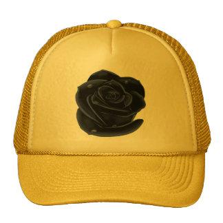 Elegant Black Roses Cap