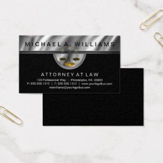 Elegant Black | Silver Lawyer Legal Law Business