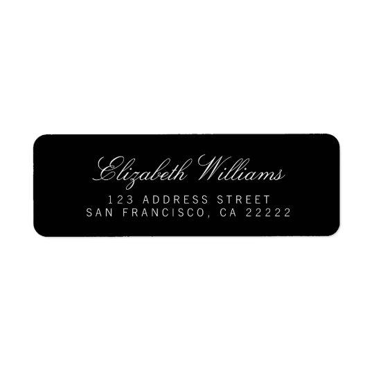Elegant Black Simple Return Address Labels