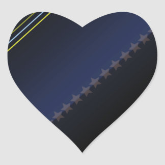 Elegant black stars and colorful stripes stickers