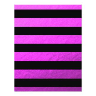 """Elegant Black Stripes Pink Foil Printed 8.5"""" X 11"""" Flyer"""