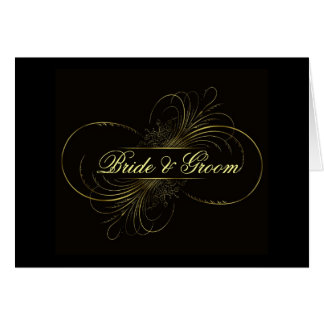Elegant black swirls ... greeting card