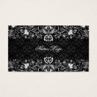 Elegant Black & White Floral Swirls