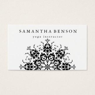 Elegant Black & white Flower Logo Yoga