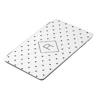 Elegant black white geometric pattern | triangles iPad mini cover