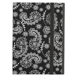 Elegant Black & White Paisley iPad Air Case Stand