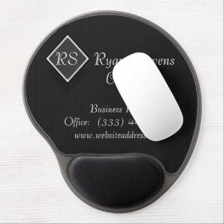 Elegant Black White Pinstripe Gel Mouse Pad