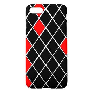 Elegant Black White Red Diamonds Pattern Case