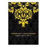 Elegant Black & Yellow  Vintage Floral Damasks Pack Of Chubby Business Cards