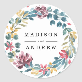 Elegant Blossoms | Personalized Wedding Stickers