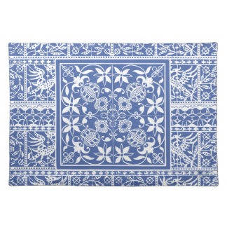 Elegant Blue and White Renaissance Lace Placemats
