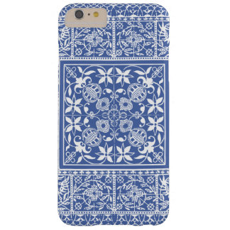Elegant Blue and White Renaissance Pattern Barely There iPhone 6 Plus Case