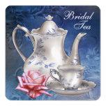 Elegant Blue Bridal Tea Personalised Announcement