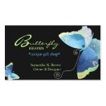 Elegant Blue Butterfly Personalised Business Card
