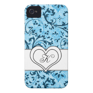 Elegant blue case-blackberry bold [customizable] iPhone 4 covers