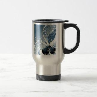 Elegant Blue Christmas Stainless Steel Travel Mug