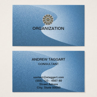 elegant blue curves organization business card