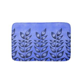 Elegant Blue Decorative Plant With Pointy Leaves Bath Mat