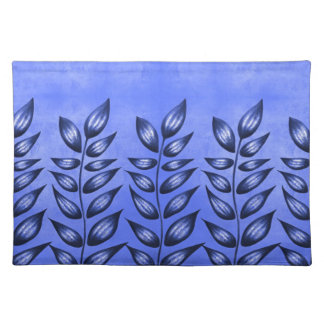 Elegant Blue Decorative Plant With Pointy Leaves Placemat