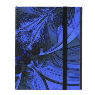 Elegant Blue Digital Design iPad Cover