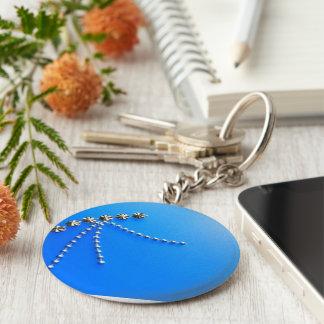 Elegant Blue Fantasy Gems Key Chain