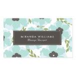Elegant Blue Floral Business Cards
