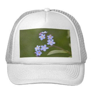 Elegant Blue Floral Mesh Hats