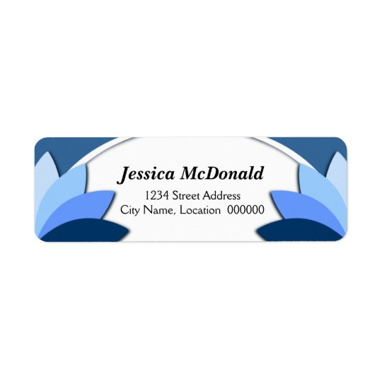 Elegant Blue Florals Labels