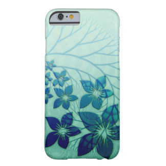 Elegant blue Flower Design Barely There iPhone 6 Case