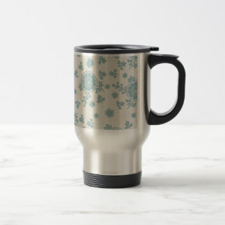 Elegant Blue Flowers Mugs