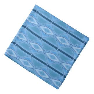 Elegant Blue Geometric with Stripe Bandana