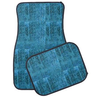 Elegant  Blue Glitter Monogram Car Mat
