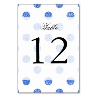 Elegant Blue Glitter Polka Dots Pattern Card