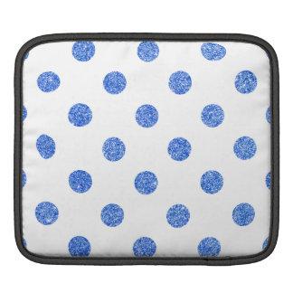 Elegant Blue Glitter Polka Dots Pattern iPad Sleeve