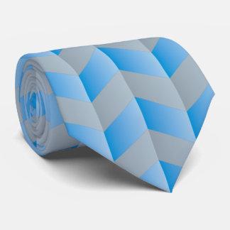Elegant Blue Gray Chevron Pattern Tie