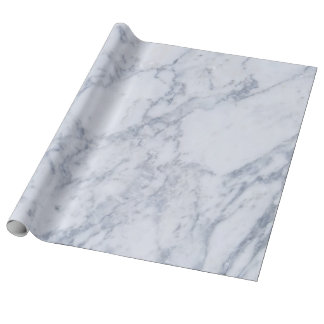 elegant blue marble stone wrapping paper
