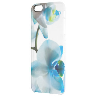Elegant Blue Orchids Clear iPhone 6 Plus Case