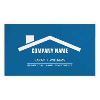 Elegant Blue & Pearl Professional Real Estate Pack Of Standard Business Cards