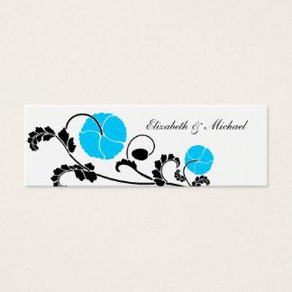 Elegant Blue Poppy Gift Registry Cards