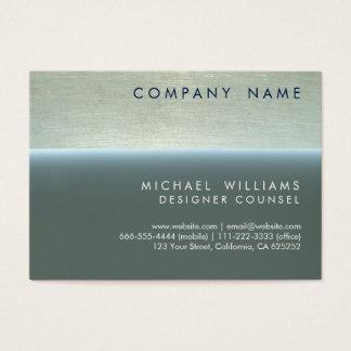 ELEGANT BLUE PROFESSIONAL METAL MODERN MINIMUM BUSINESS CARD