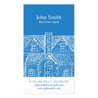 Elegant blue professional real estate agent pack of standard business cards