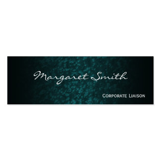 Elegant Blue Professional Slim Business Cards Business Cards