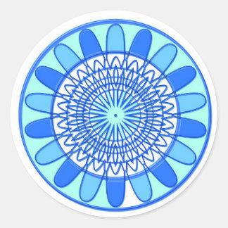 Elegant Blue Sparkle Jewel Design Round Sticker