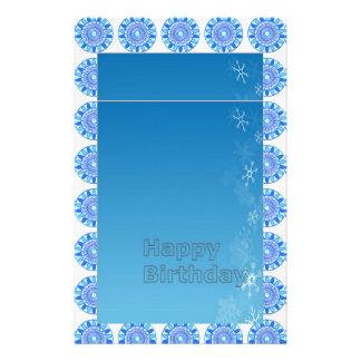 Elegant Blue Sparkle Jewel Design Stationery